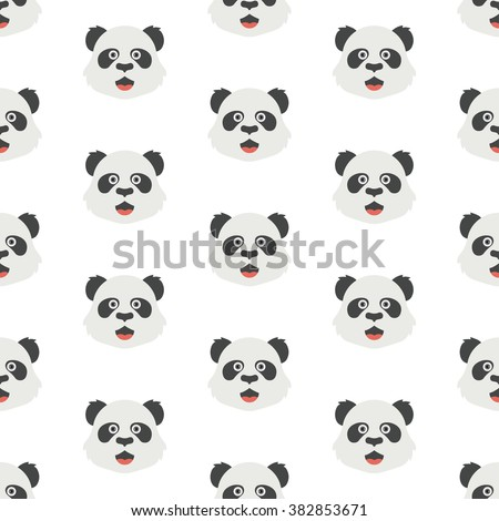 Seamless Pattern With Panda Cute Vector Art Background Design For Wallpaper And Fabric