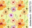 seamless pattern with petunia - stock vector