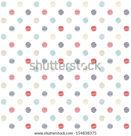 seamless pattern with polka dots - stock vector