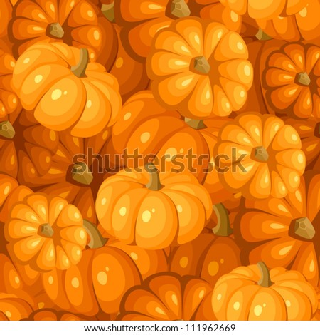 Seamless pattern with pumpkins. Vector illustration. - stock vector