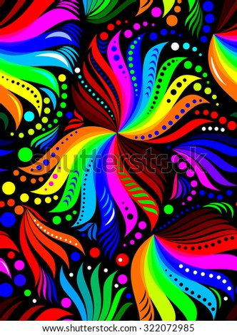 Seamless pattern with rainbow colors, vector image - stock vector