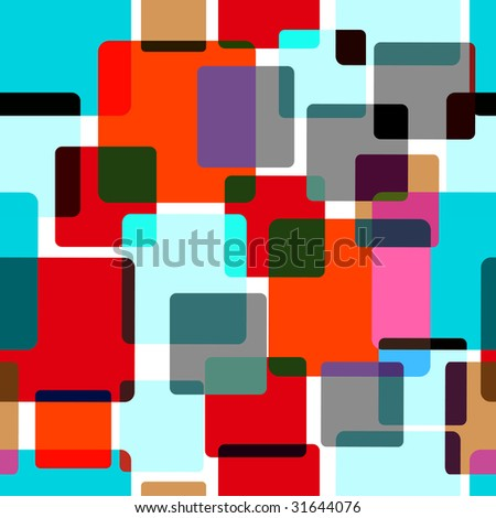 Seamless pattern with random colored tiles - stock vector