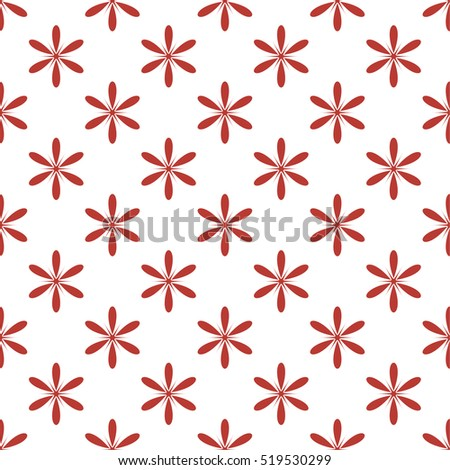 Seamless pattern with red flowers on a white background. Background for gift wrapping. Decoration fabric. Wallpaper design. Stylish beautiful baby seamless pattern