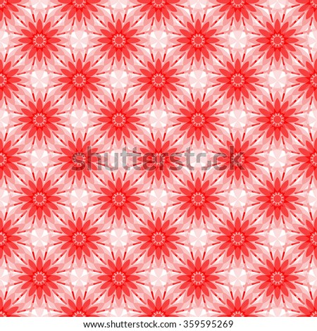 Seamless pattern with red flowers, vector eps 10 - stock vector