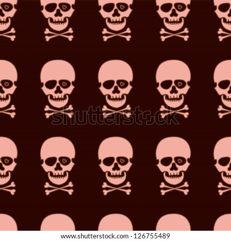 seamless pattern with rose skull