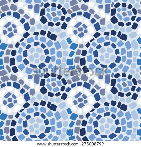 Seamless pattern with round mosaic 1 - stock vector
