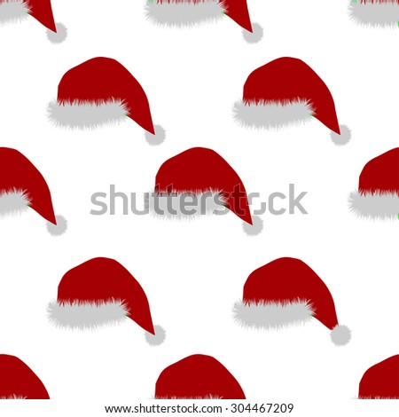 seamless pattern with Santa Hat