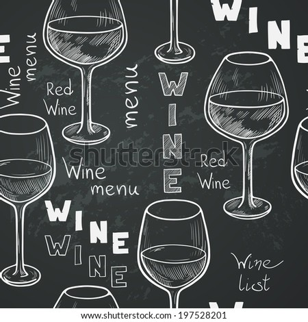blackboard with white letters seamless pattern sketched glasses white stock vector 20621