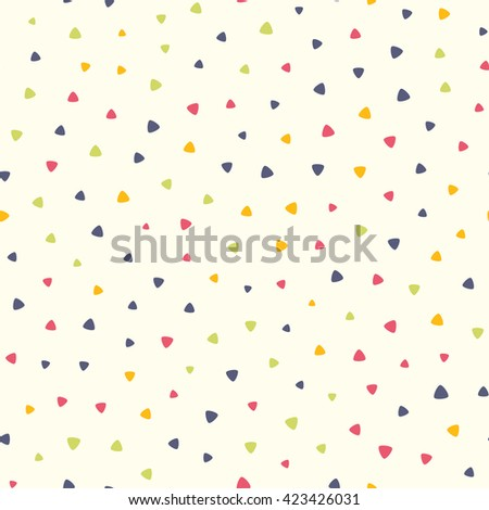 Seamless pattern with small triangles. Vector repeating texture.