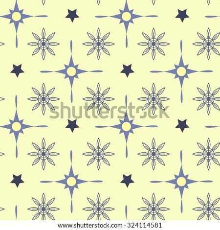 Seamless pattern with snowflakes. Festive winter background. Vector illustration for Rozhdestvenskii design. It can be used for Christmas cards, of gifts and packing design.