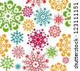 seamless pattern with snowflakes. global colors used. layered vector. Eps8 - stock vector