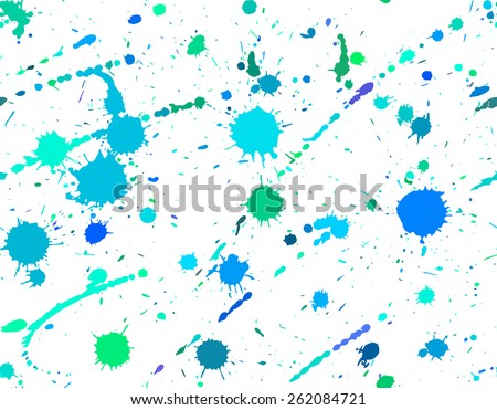 Seamless pattern with spray paint. Ink blots - stock vector