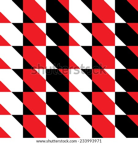 Seamless pattern with squares divided by diagonal stripes.