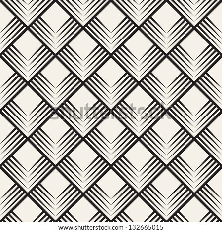 Seamless pattern with squares. Vector abstract background. Stylish cell structure - stock vector