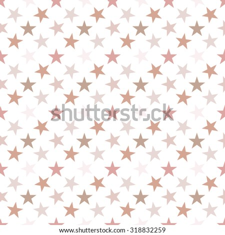 Seamless pattern with stars on white background. Vector illustration.
