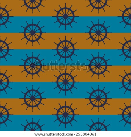 seamless pattern with steering wheels - stock vector
