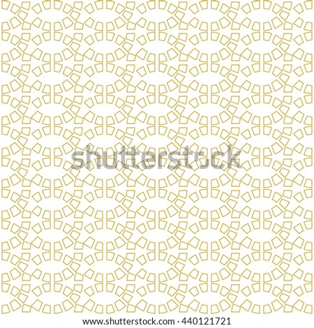 Seamless pattern with symmetric geometric ornament. Abstract repeated bright blocks background. Ethnic mosaic, stained glass wallpaper. Vector illustration