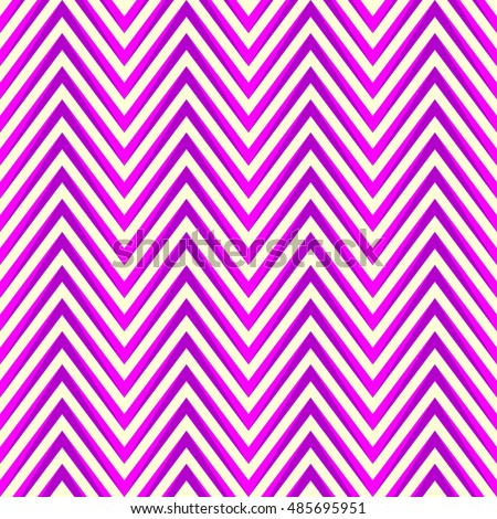 Seamless pattern with symmetric geometric ornament.  Bright purple zigzag abstract on white background. Repeated chevrons wallpaper. Ethnic vector illustration