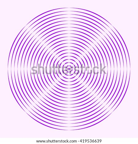 Seamless pattern with symmetric geometric ornament. Purple violet dash round lines abstract background. 3d optical illusion effect wallpaper. Vector illustration - stock vector