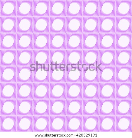 Seamless pattern with symmetric geometric ornament. Purple violet sharp lines stylized lights abstract background. 3d optical illusion effect wallpaper. Vector illustration - stock vector