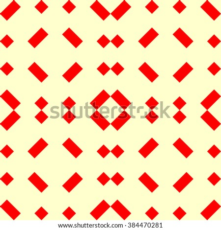 Seamless pattern with symmetric geometric ornament. Vector illustration.