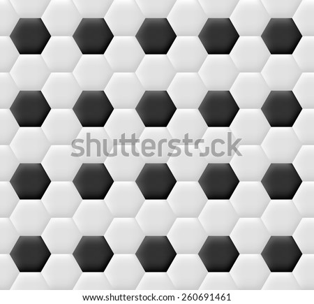 Seamless pattern with texture of football ball - stock vector