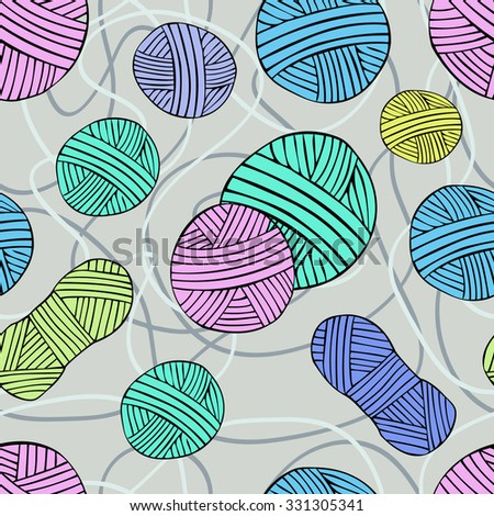seamless pattern with threads 4
