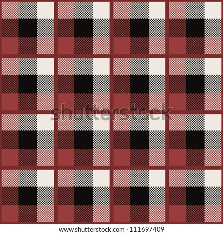 seamless pattern with traditional Scottish ornament - stock vector
