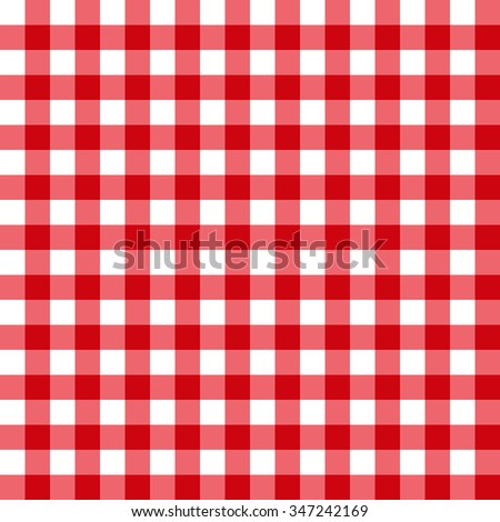Seamless pattern with trendy stylish cell Gingham. The bright red and white.