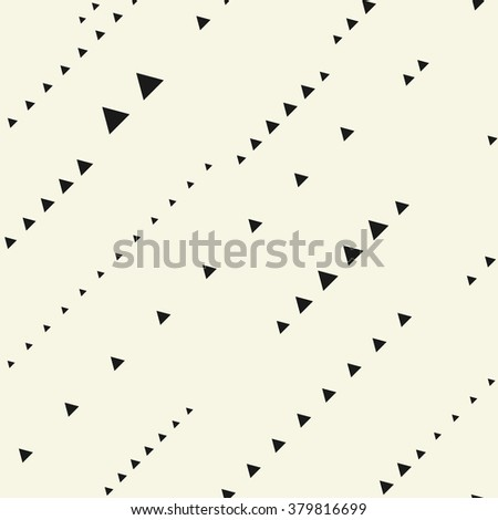 seamless pattern with triangles - stock vector