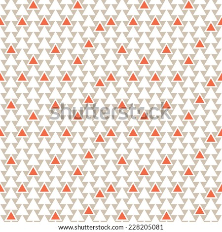 Seamless pattern with triangles. Vector background. Geometric abstract texture. Chaotic red accents - stock vector
