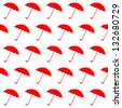 Seamless pattern with umbrellas. Vector illustration EPS - stock vector
