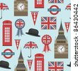 seamless pattern with united kingdom graphics, with clipping path - stock photo