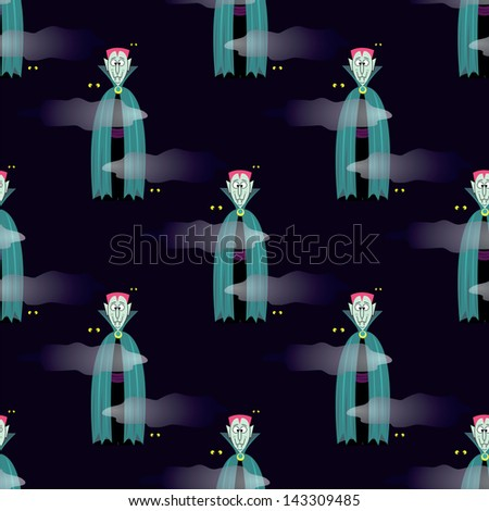 seamless pattern with  Vampire  background - stock vector