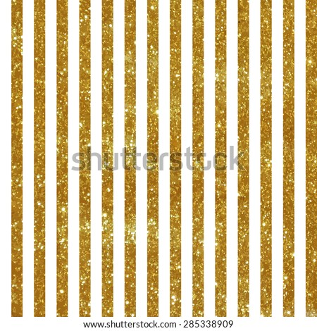 Seamless pattern with vertical gold stripes - stock vector