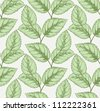 Seamless pattern with vintage leafs - stock vector