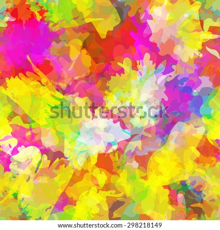 Seamless pattern with watercolor imprint of thread coil. Sloppy strokes of a paint. Vector 5 - stock vector