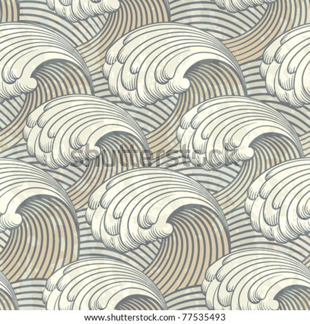 seamless pattern with waves - stock vector