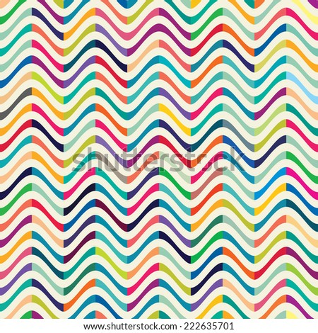 Seamless Pattern with waves for design fabric,backgrounds, package, wrapping paper, covers, fashion  - stock vector