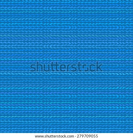 Seamless Pattern with Wavy Lines in Shades of Blue. Vector Illustration. - stock vector