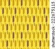 Seamless Pattern with Wheat. Harvest Vector Illustration. Autumn Background - stock vector
