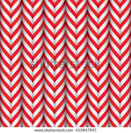 Seamless Pattern with White and Red Candy Cane Stripes. Xmas Texture with Candy Canes Background. Festive Vector Illustration. - stock vector