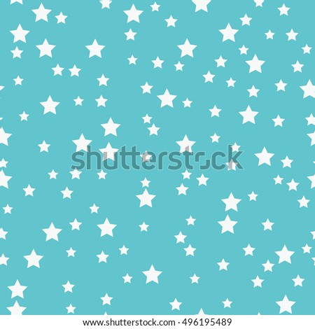 Seamless pattern with white stars on a blue background.Simple design with stars for your design