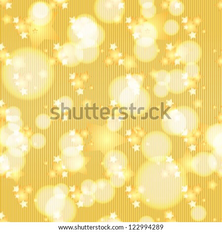 Seamless Pattern with Yellow Stars.Vector design for wrapping or print, wallpaper, textile, website or poster background.