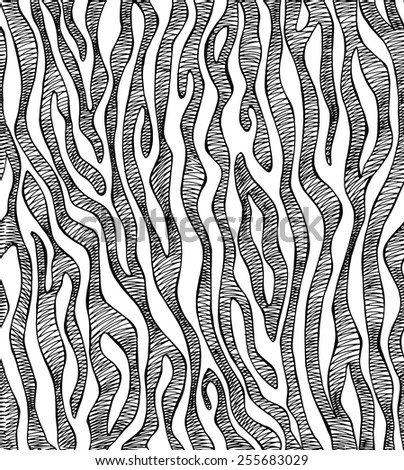 Seamless Pattern Zebra Black & White