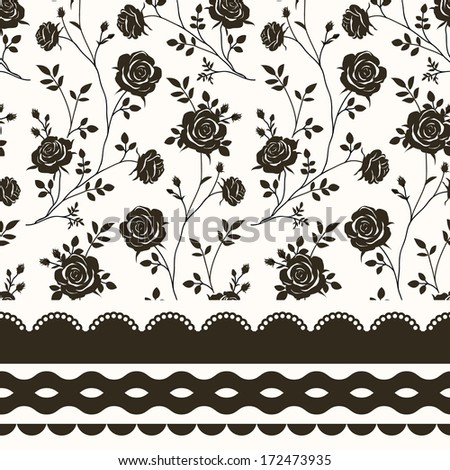 Seamless patterns - stock vector