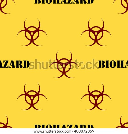 Seamless patterns with biohazard symbol. Vector illustration. - stock vector