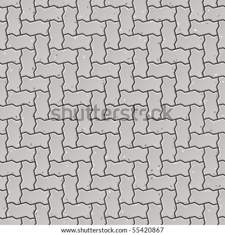Seamless pavement pattern. Vector. - stock vector