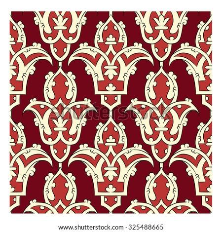Seamless Persian ornament - stock vector