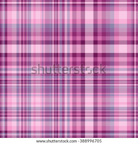 Seamless pink and purple checkered pattern with diagonal stripes (vector EPS 10) - stock vector